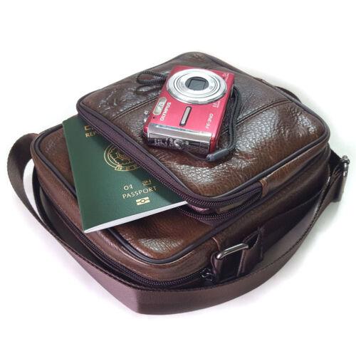 NEW Brown Cross Body Bag Messenger Shoulder Bag Passport Bag