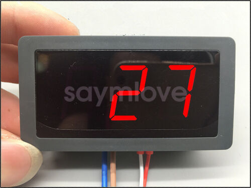 DC 12V 24V Digital Red LED Thermometer Temperature Meter NTC Thermistor Probe