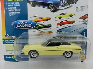 2017 Johnny Lightning Classic Gold 1b Pastel Lime 1974 Ford Gran