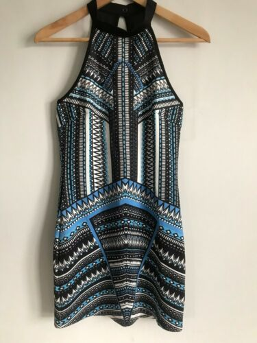 Dotti Mini Short Dress Multi-Color Aztec Print Ro… - image 1