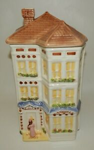 Vintage-Avon-Townhouse-Canister-Collection-Cookie-Jar-or-Large-12-034-Canister