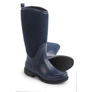 7b6e53b8fe0 Details about Ugg Womens Reignfall Boots Sz 6 Navy Blue Waterproof NIB  Rubber Rain Boot EU 37