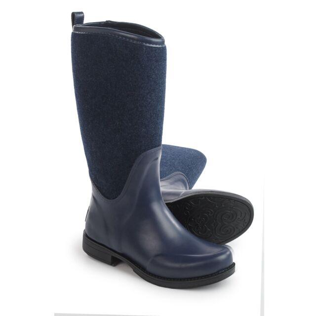 24ef18a1b1b UGG Womens Reignfall BOOTS Sz 6 Navy Blue Waterproof Rubber Rain Boot EU 37