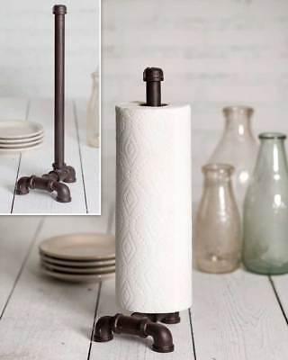 Industrial Tabletop/Countertop Paper Towel Holder Freestanding Pipes