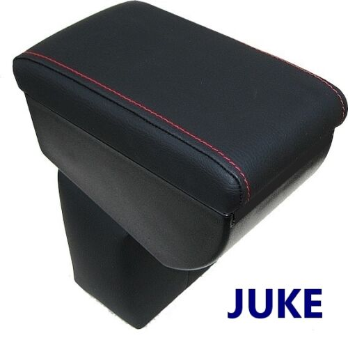 BLACK MADE IN ITALY Armrest for NISSAN JUKE premium RED STITCHINGS