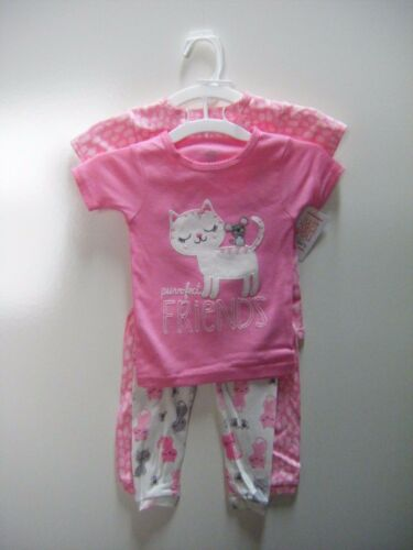 Carter/'s Just One You Girls Cat /& Mouse 4-Piece Pink Pajama Set