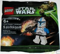 2013 Lego Star Wars 5001709 Blue Clone Trooper Lieutenant Minifigure Sealed