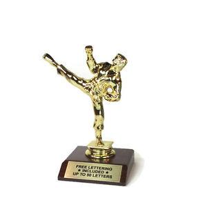 Karate-Kicker-2-Trophy-Dojo-Striking-Desktop-Series-Free-Lettering