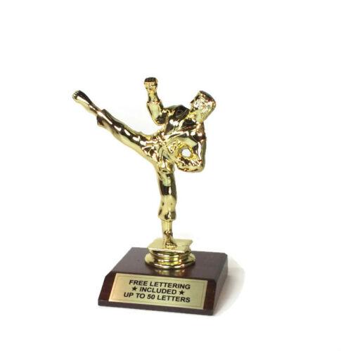 Free Lettering Karate Kicker 2 Trophy Striking Dojo Desktop Series