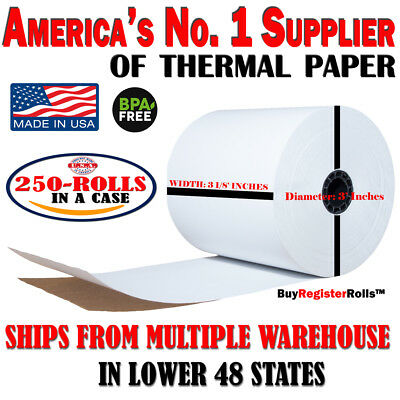 3 1//8 x 273 thermal paper 50 rolls Eco Friendly XL Thermal Paper Rolls Bpa Free