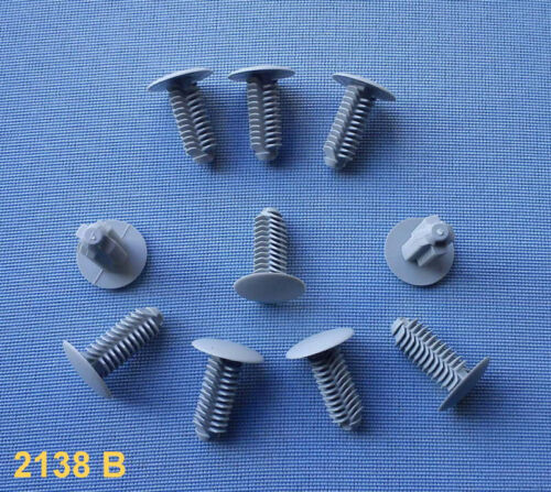 30x Carénage Clips Fixation Colliers support 9 mm Universal gris 78 a