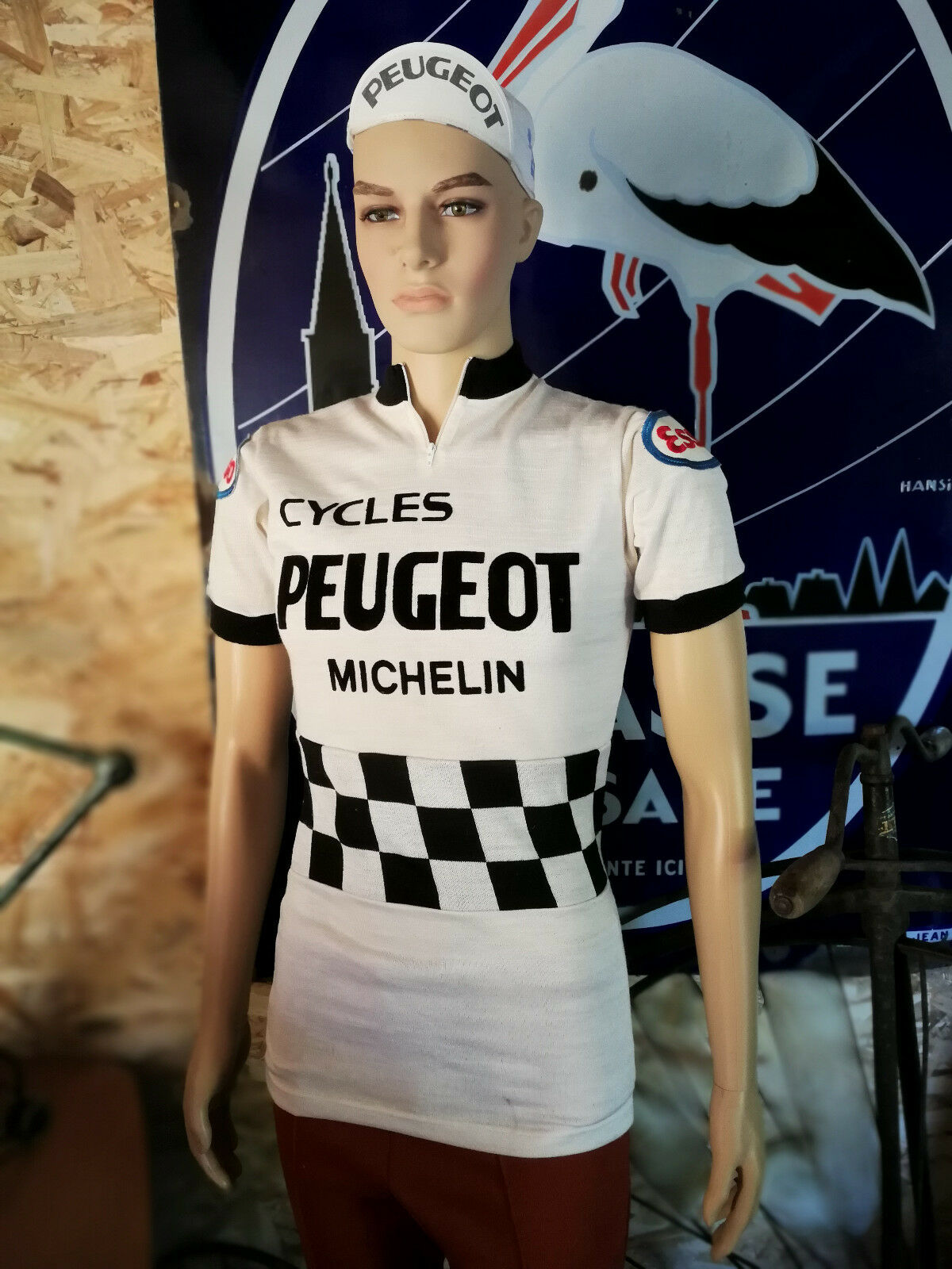 N.O.S Maillot hiver PEUGEOT CYCLES velo old bike bici epoca maillot