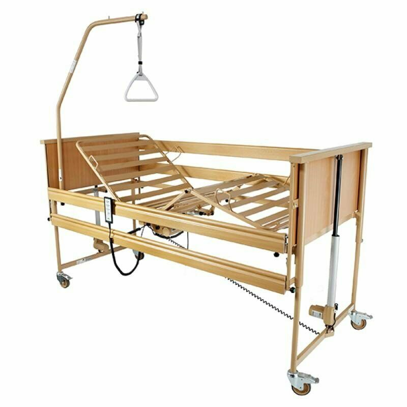 Electrically Adjustable Homecare Bed with back-up battery. On Sale, FREE DELIVERY