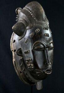 Art African tribal Arte - Mask Of Mblo Baoulé Billiards Ball - 40 CMS