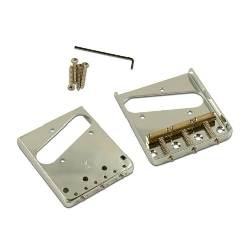 Kluson Steel Bridge for Tele Top load /& Through Body Stringing Brass Saddles