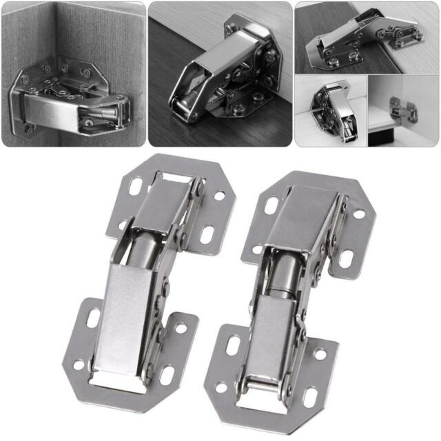 10pcs 3in Bridge Shaped Spring Frog Cabinet Closet Door Hinge Furniture Hardware