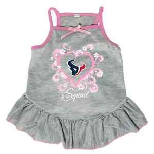 new concept 72838 90d00 Details about NEW HOUSTON TEXANS PET DOG PINK TOO CUTE SQUAD CHEERLEADER  JERSEY TEE DRESS
