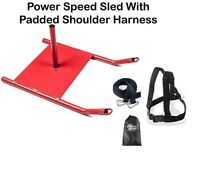 Osg Power Speed Sled With Shoulder Harness Resistance Training Crossfit Running