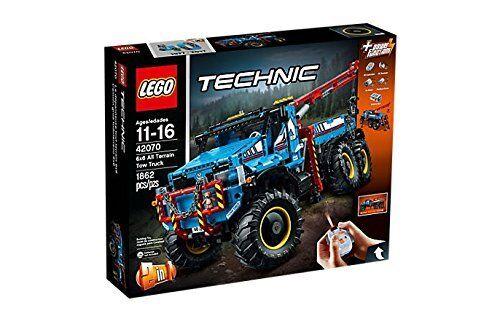 Lego TECHNIK 42070 - LKW Kran Geländefahrzeug 6x6. 1662 Teile. De 11 a 16 años