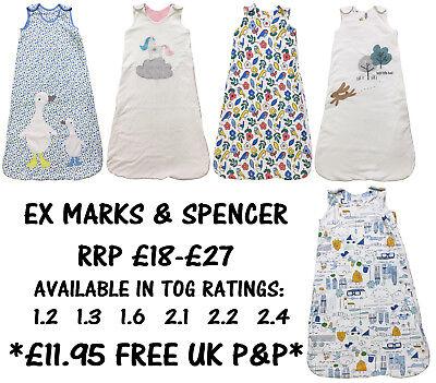 Baby Nursery Bedding Baby Sleeping Bag Ex Marks & Spencer Boys Girls Cotton 0-36m Tog 1.2-2.4 New Strengthening Waist And Sinews