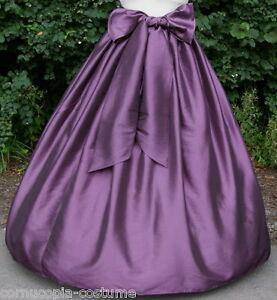 Ladies-Victorian-American-Civil-War-costume-fancy-dress-SKIRT-amp-SASH-AUB