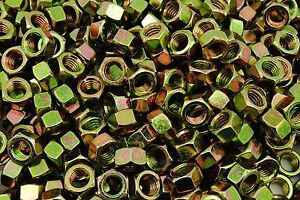200-1-2-13-Grade-8-Hex-Finish-Nuts-Yellow-Zinc-Plated-Coarse