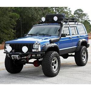 6x wide pocket fender flares black for 1984-2001 jeep cherokee xj