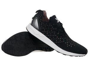 sale retailer c821e 7a269 Image is loading Adidas-Originals-ZX-Flux-Advanced-Asymmetrical-Primeknit -Mens-