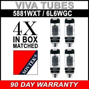 Brand New In Box Plate Current Matched Pair Sovtek 5881WXT 6L6WC Vacuum Tubes