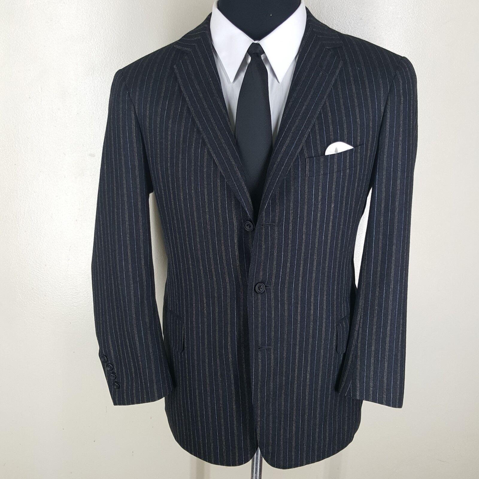 LEONARD LOGSDAIL Bespoke grau Sport Coat  3 Btn No Vents   Fit 42 Short