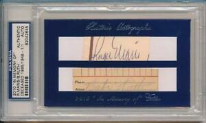 """Babe Ruth Roger Maris Signed Cut Auto 1/1 !!  2010 """"In Memory Of"""" Autograph PSA"""