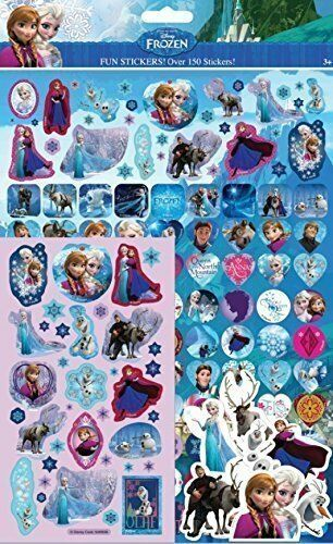 Paper Projects FROZEN Mega Pack Over 150 Fun Stickers Foiled Re-usable