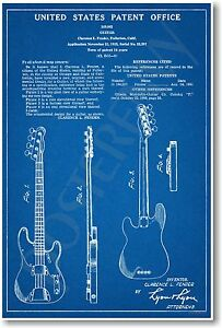 Fender-Bass-Patent-NEW-Vintage-Invention-Patent-Poster