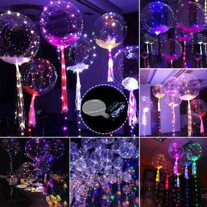 Wedding Clear Bubble Helium Balloons LED Fairy Lights Birthday Xmas Party Decor