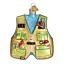 034-Fishing-Vest-034-44091-X-Old-World-Christmas-Glass-Ornament-w-OWC-Box thumbnail 1
