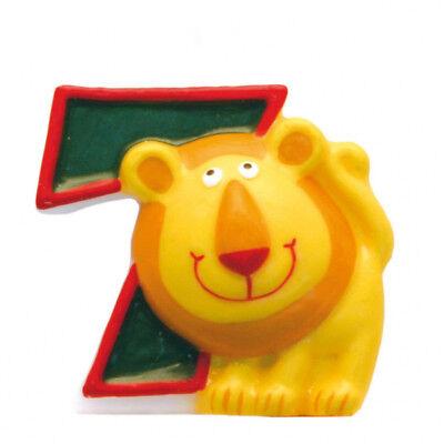 Geburtstagskerze Zahlenkerze Kinder Motive Kerze 5 Safari Tiere Dschungel