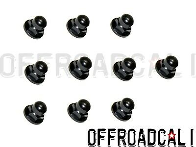 License Plate Mounting Nut Black Acorn Metric 6mm for Volvo 10 pack