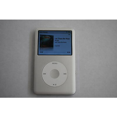 Apple iPod classic 6th Generation SILVER(80 GB) - COMPLETELY REBUILT