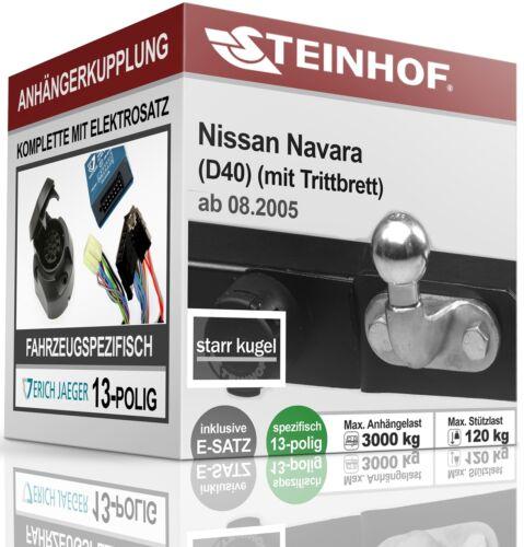 AHK starr NISSAN NAVARA D40 für Trittbrett ab 2005+E-SATZ 13p FAHRZEUGSPEZ.
