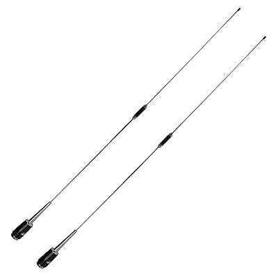 2Pcs Siliver SL-16 PL-259 Mobile Car Radio Antenna UHF 400-470 MHz 200W 50 Ohm
