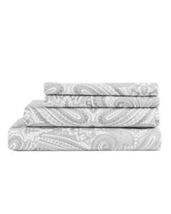 Hotel-Collection-Soft-Paisley-Print-Pattern-4-Piece-Sheet-Set-Queen