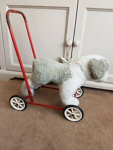 VINTAGE-PUSH-A-LONG-RIDE-ON-DOG-ON-WHEELS-OLD-ENGLISH-SHEEPDOG