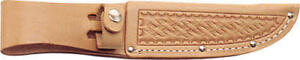 Sheath SH209 Knife Sheath 5 Basketweave Leather Natural Color