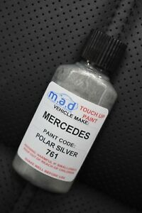 MERCEDES-BENZ-POLAR-SILVER-761-TOUCH-UP-KIT-BOTTLE-BRUSH-REPAIR-PAINT-CHIP-30ML