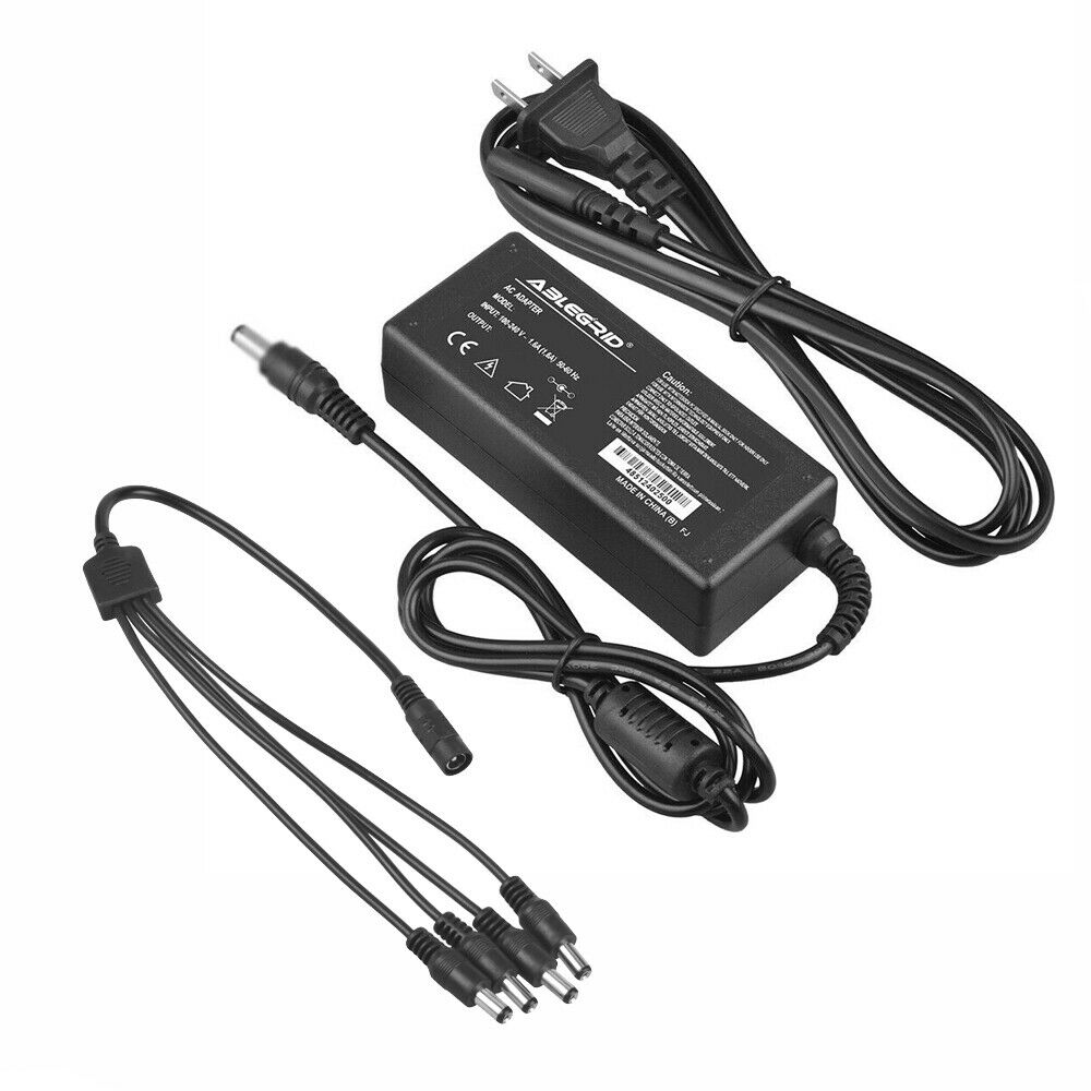 1 to 4 Way Splitter AC Adapter For Samsung SDR-C75300N/UC 16 Channel Full HD DVR