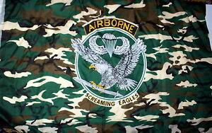 Drapeau-AIRBORNE-SCREAMING-EAGLE-90-x-150-cm