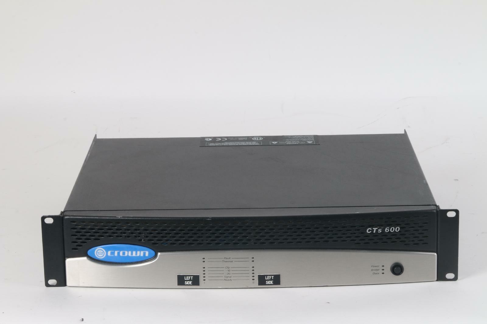 Crown CTs 600 600W Power Amplifier With Programmable Input Processor (P.I.P)