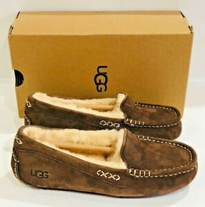 UGG-Ansley-Chocolate-Women-039-s-Moccasin-Slippers-Size-5