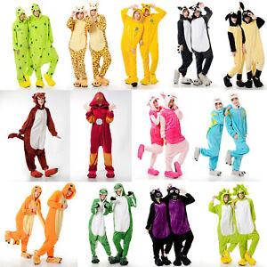 Einhorn-Adult-Pyjama-Cosplay-Tier-Onesie-Body-Nachtwaesche-Kleid-overall-Animal