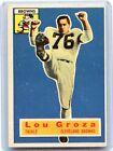 1956 TOPPS FOOTBALL #9 LOU GROZA FOOTBALL CARD, CLEVELAND BROWNS, HOF